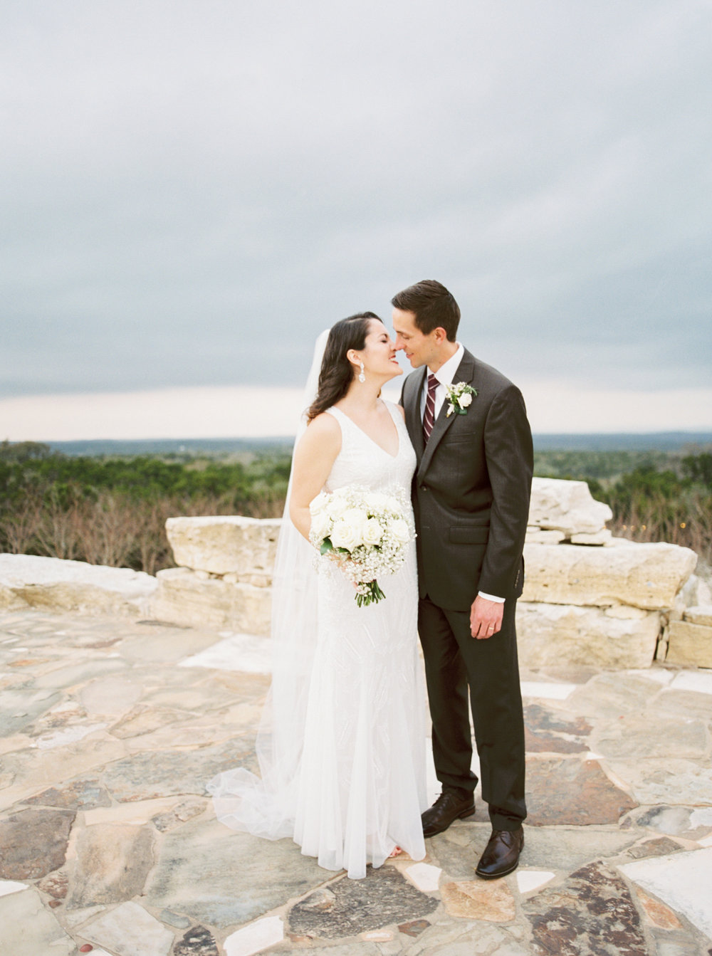 Hill country wedding with 100% chance of rain -