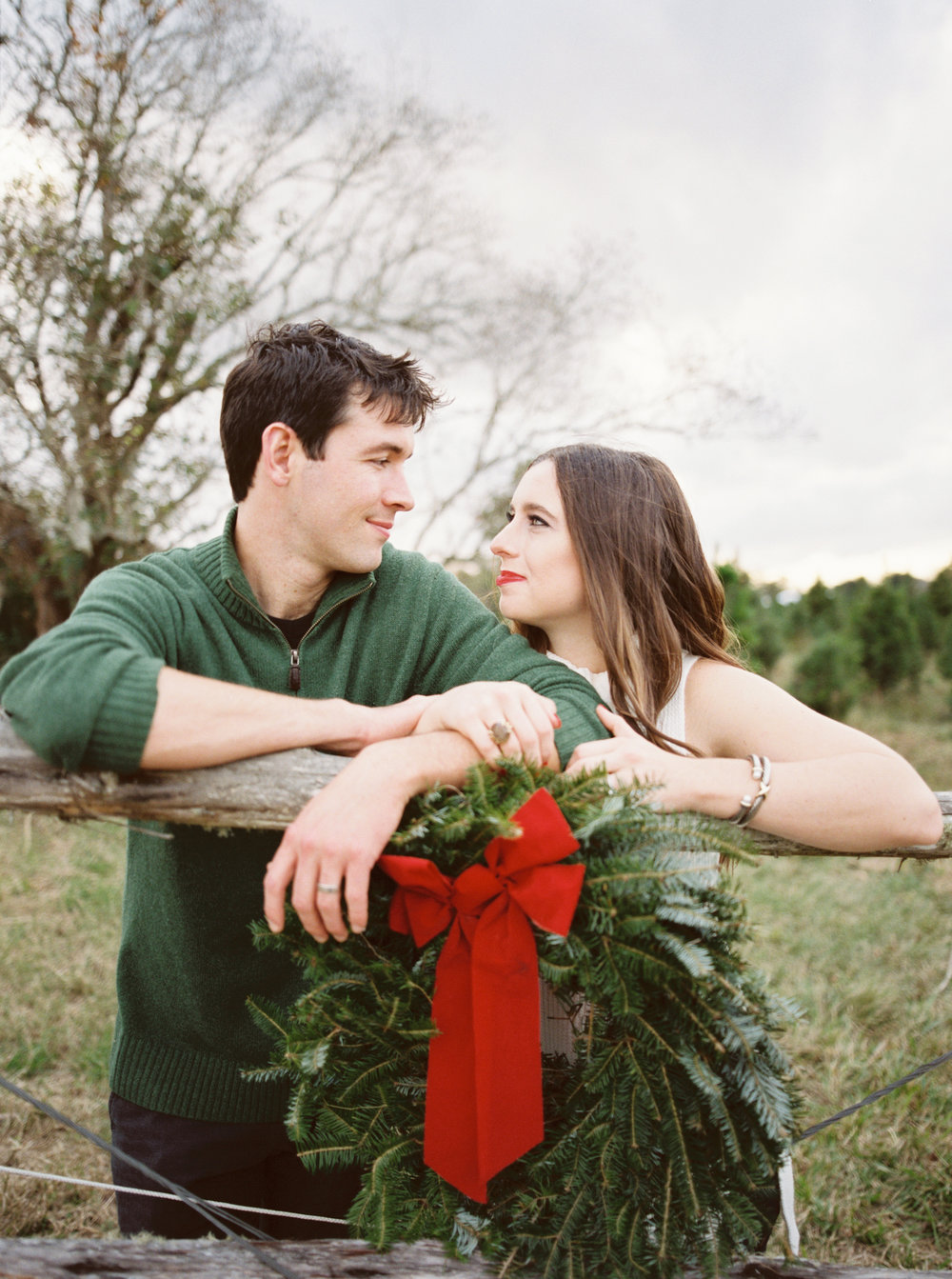 Christmas tree farm holiday session -