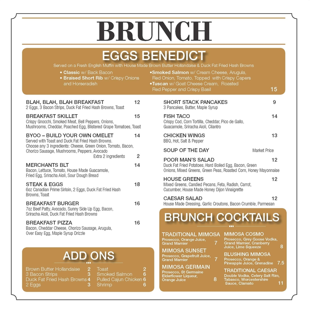 Click on the image for a larger view of our Brunch Menu.