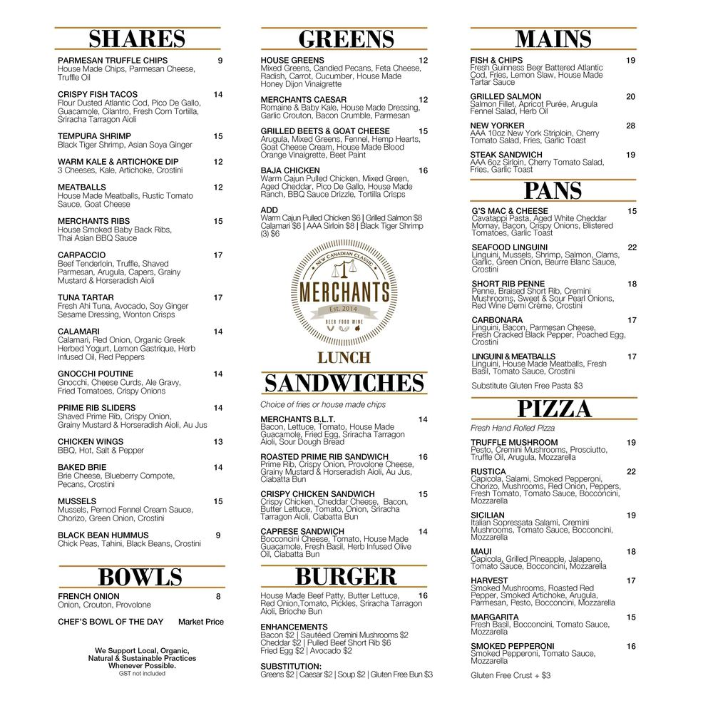 Click on image for larger view of our Daytime Menu.