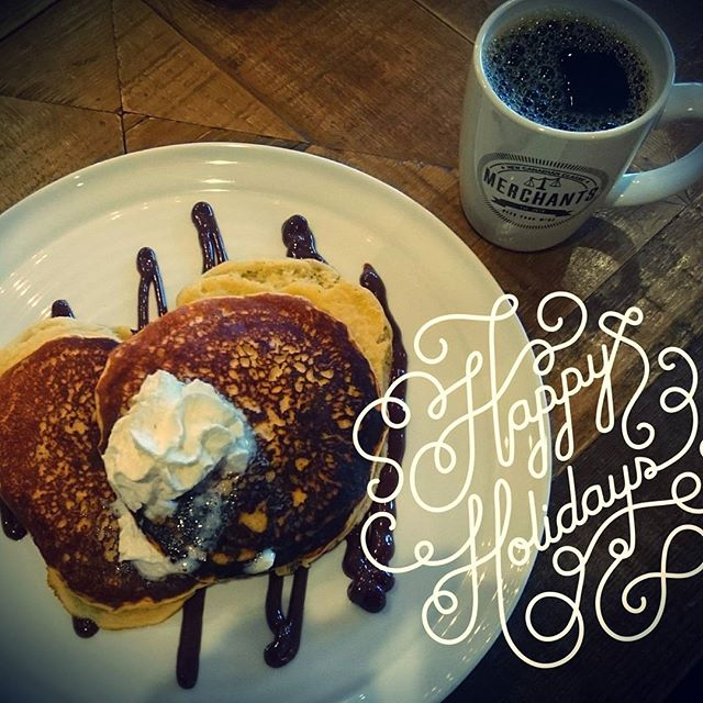 Holidays are coming, so are eggnog pancakes at Merchants! #Merchants #mardaloopyyc #brunchyyc #pancakes #eggnog