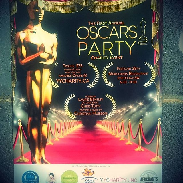 Merchants is hosting first annual Oscars Party on February 28th. Tickets includes 2 drinks and hors d'ouvres. You can buy them at yycharity.inc or here at Merchants... #Merchants #merchantsyyc #eatdrinkplay #oscarsparty #yycharity #yycharityevents
