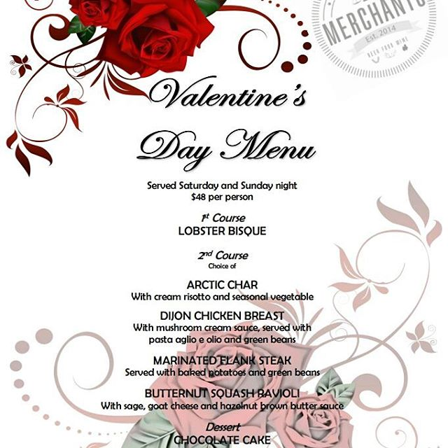 Book your Valentine's Day with us at info@merchantsyyc.com or call 403-452-4001. Valentine's menu will be served this Saturday and Sunday along with our regular dinner menu. #Merchants #merchantsyyc #eatdrinkplay #mardaloopyyc #valentinesday #valentinesday2016 #♥