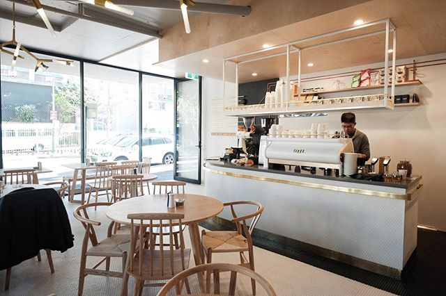 Very thankful to everyone involved for the completion of this project, including all the trades, contractors and suppliers and especially our great client @meetmicasydney who let us go crazy with the design. Keep smashing those 'spros! . . . . . #meetmica #cafe #specialtycoffee #coffee #design #interior #mosaic #birch #plywood #brass #americanoak #timber #interiordesign #architecture #surryhills #sydney #juggler #spechtdesign #strada #lamarzocco #malkoenig #ek43 #markco #madebymarkco