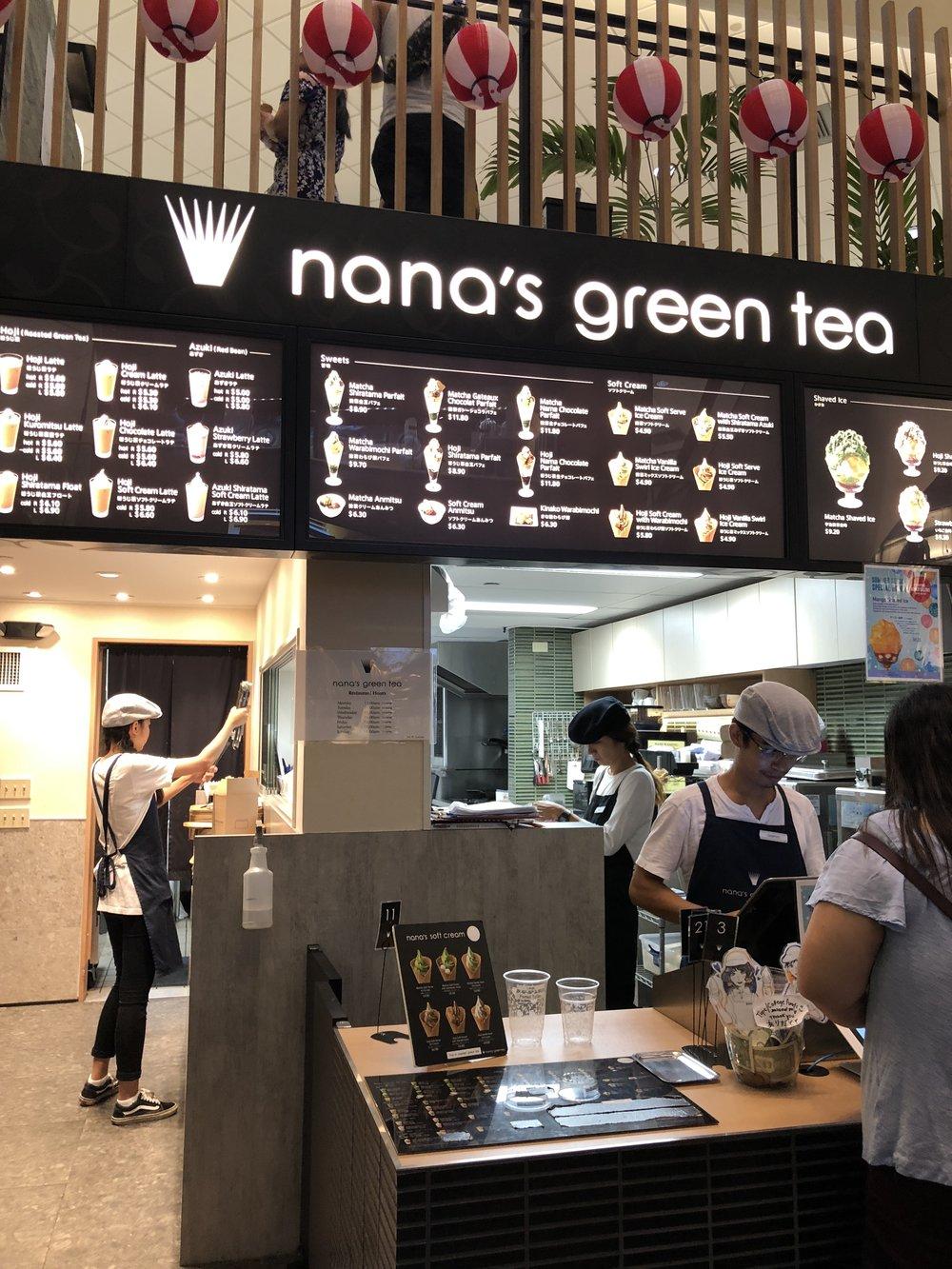 nana's green tea inside Waikiki Yokocho