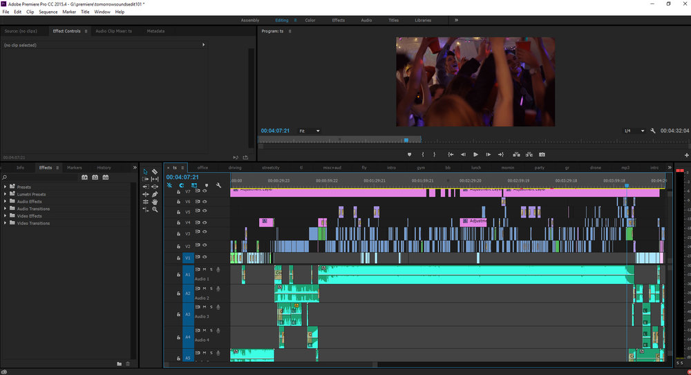 "At edit #101, here's an inside look of the final cut for the music video ""Tomorrow Sounds"""