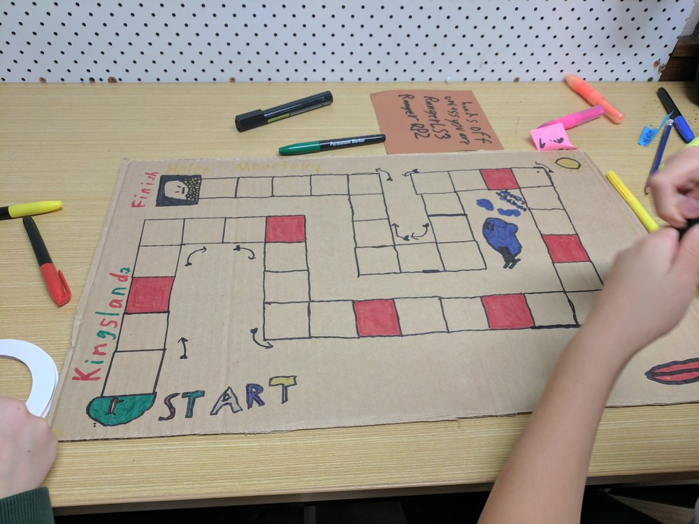 Create a project in scratch... - ...and turn it into a board game