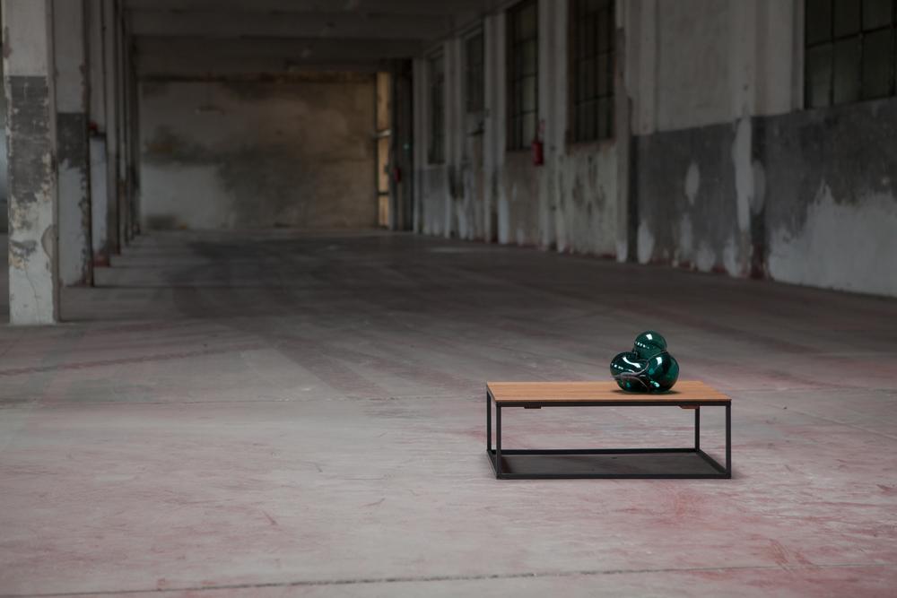 S#7  2013 - Vetro soffiato e bronzo - 37x70x50cm -Foto Laf