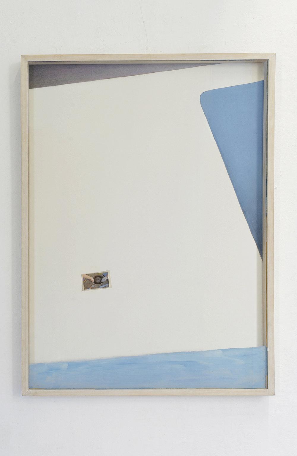 I nostri 2015 - Ritaglio di giornale, pittura su vetro e tavola - cm 103x73x4 -  Foto Benvenuto Saba e Nicola Belluzzi