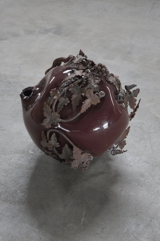 S#01  2012 - Vetro soffiato e metallo - cm 32x27x29