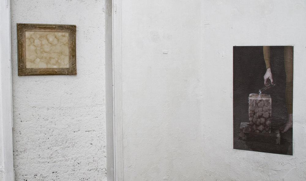 Visione parziale dell'esposizione  Lo spazio condiviso , Galleria Nicola Ricci, Carrara - Foto Laf