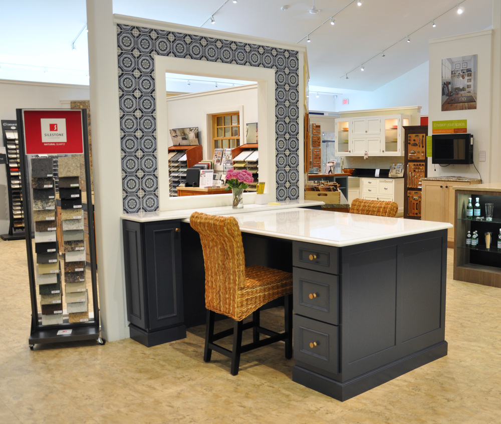 New Display In Midnight Blue Classic Kitchens Amp Baths