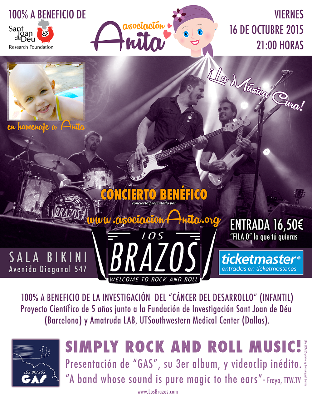asociacion-anita-concierto-benefico-los-brazos-barcelona-sala-bikini-16-octubre-2015-investigacion-tumor-celulas-germinales-germ-cell-tumor-research-jaume-mora-james-amatruda-lab-sant-joan-de-deu-barcelona-dallas
