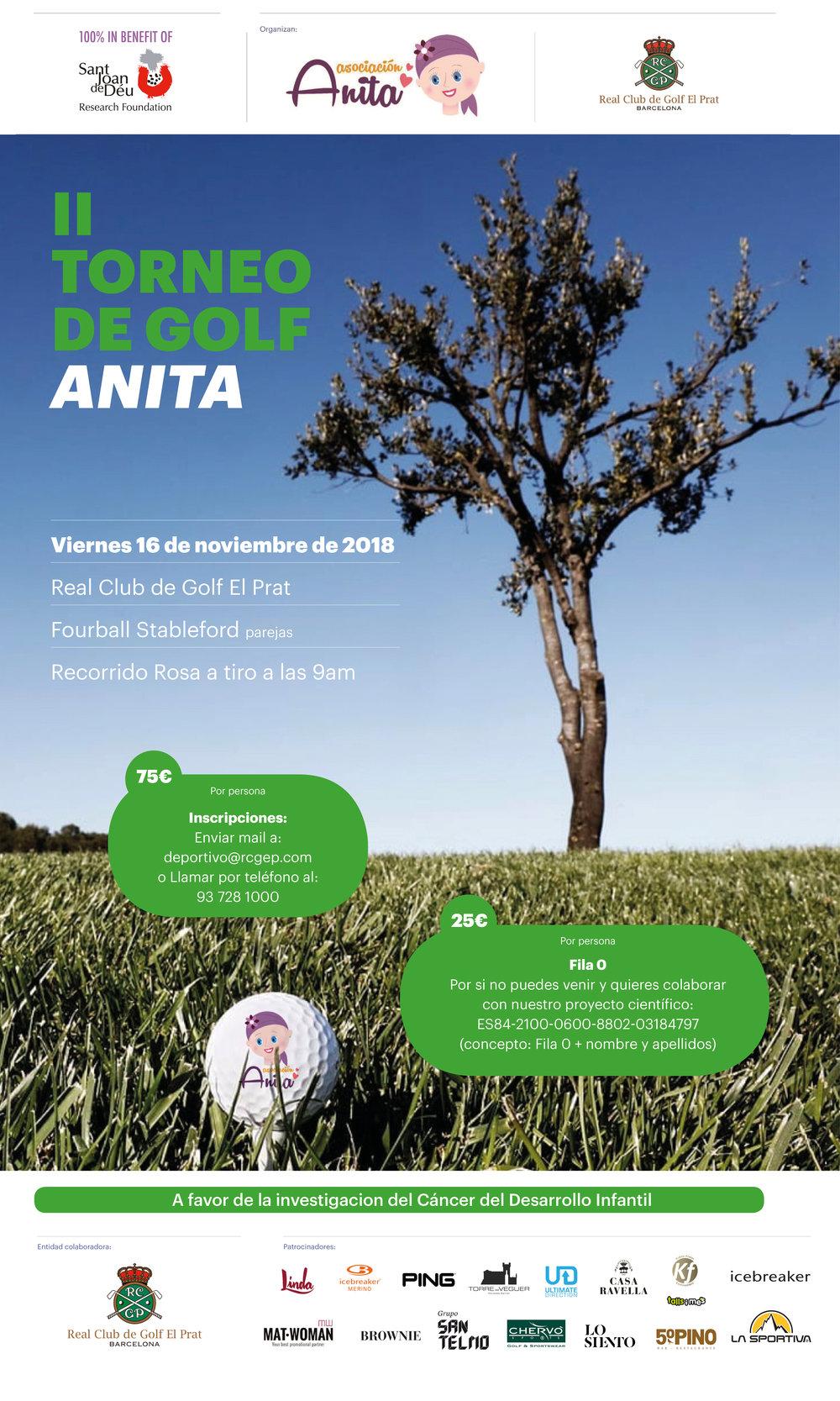 Como en todos los eventos que hacemos,  los fondos recaudados por la Asociación Benéfica Anita se destinan a la Fundación de Investigación San Juan de Dios de Barcelona .