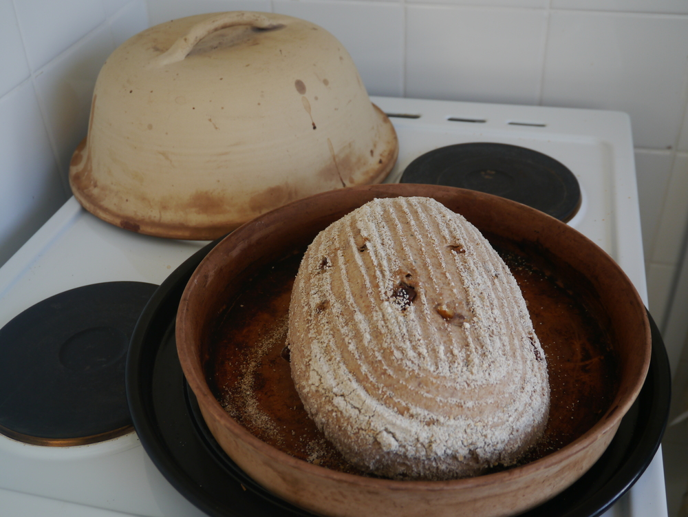 Bread in the 'Cloche' ready to bake