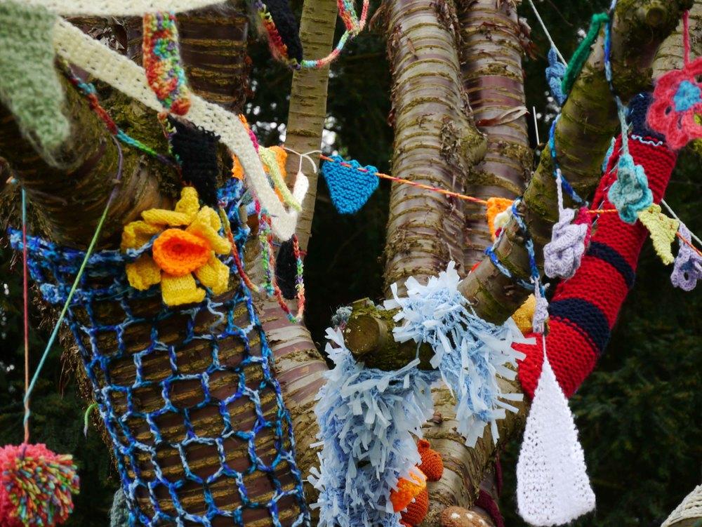 Yarn bombing in York Museum Gardens 1.jpg