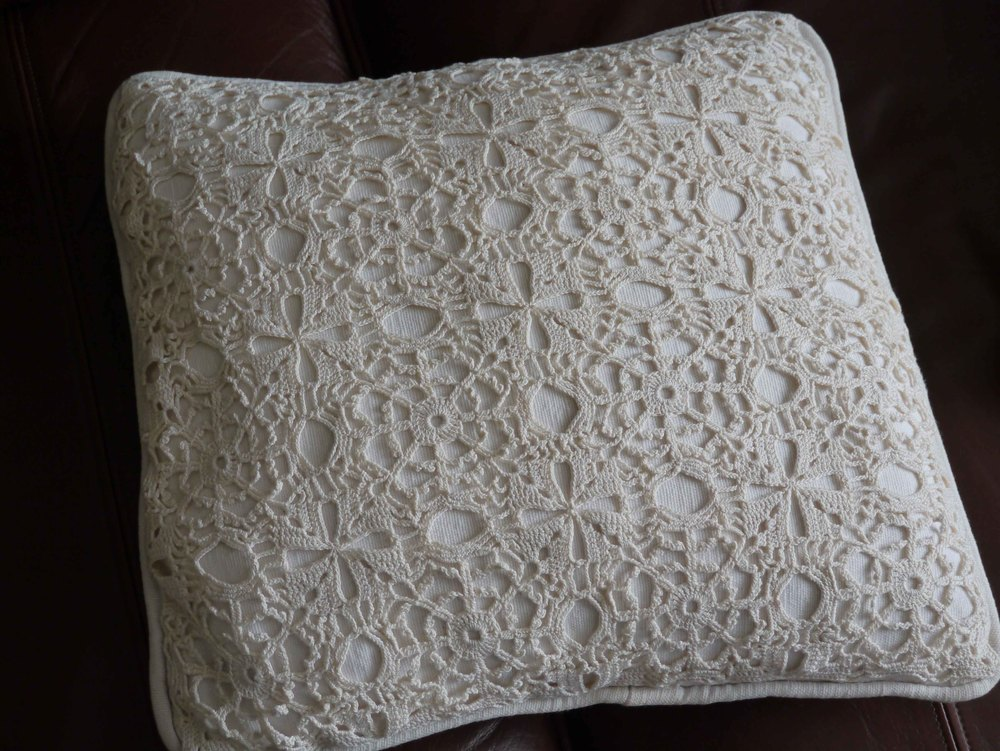 Crochet cushion cover. This was made in approx 2006