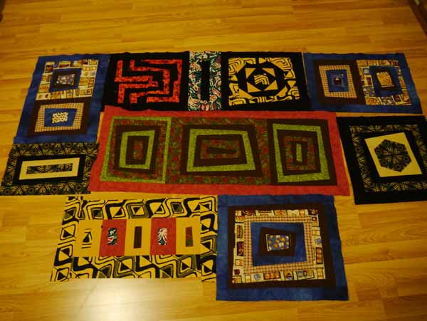 african quilt layout