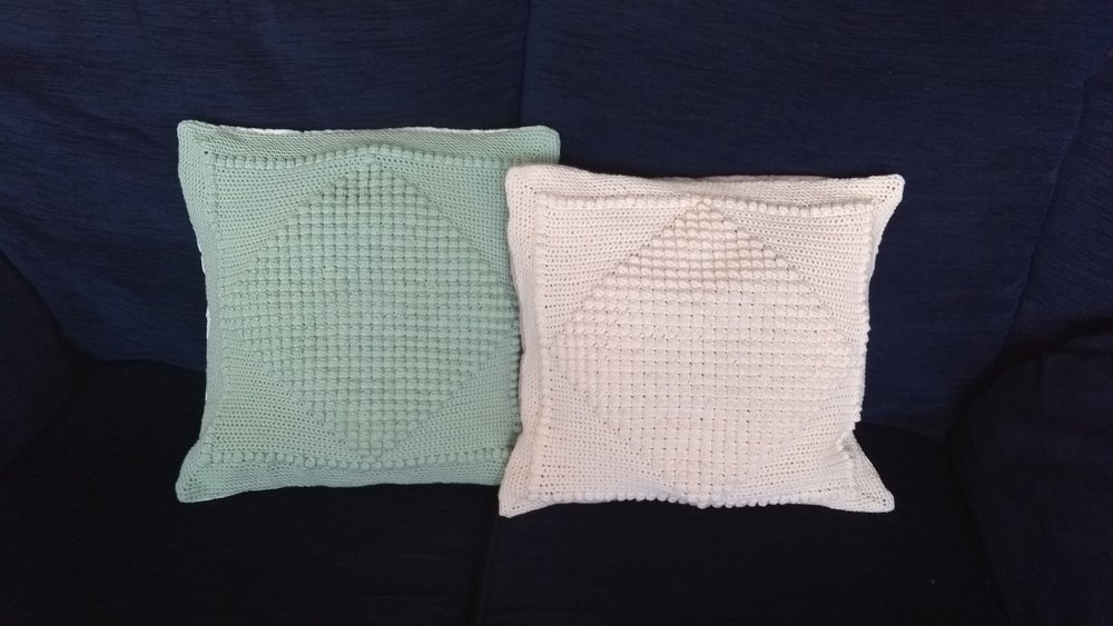 July 2017 Bobble Cushion Covers