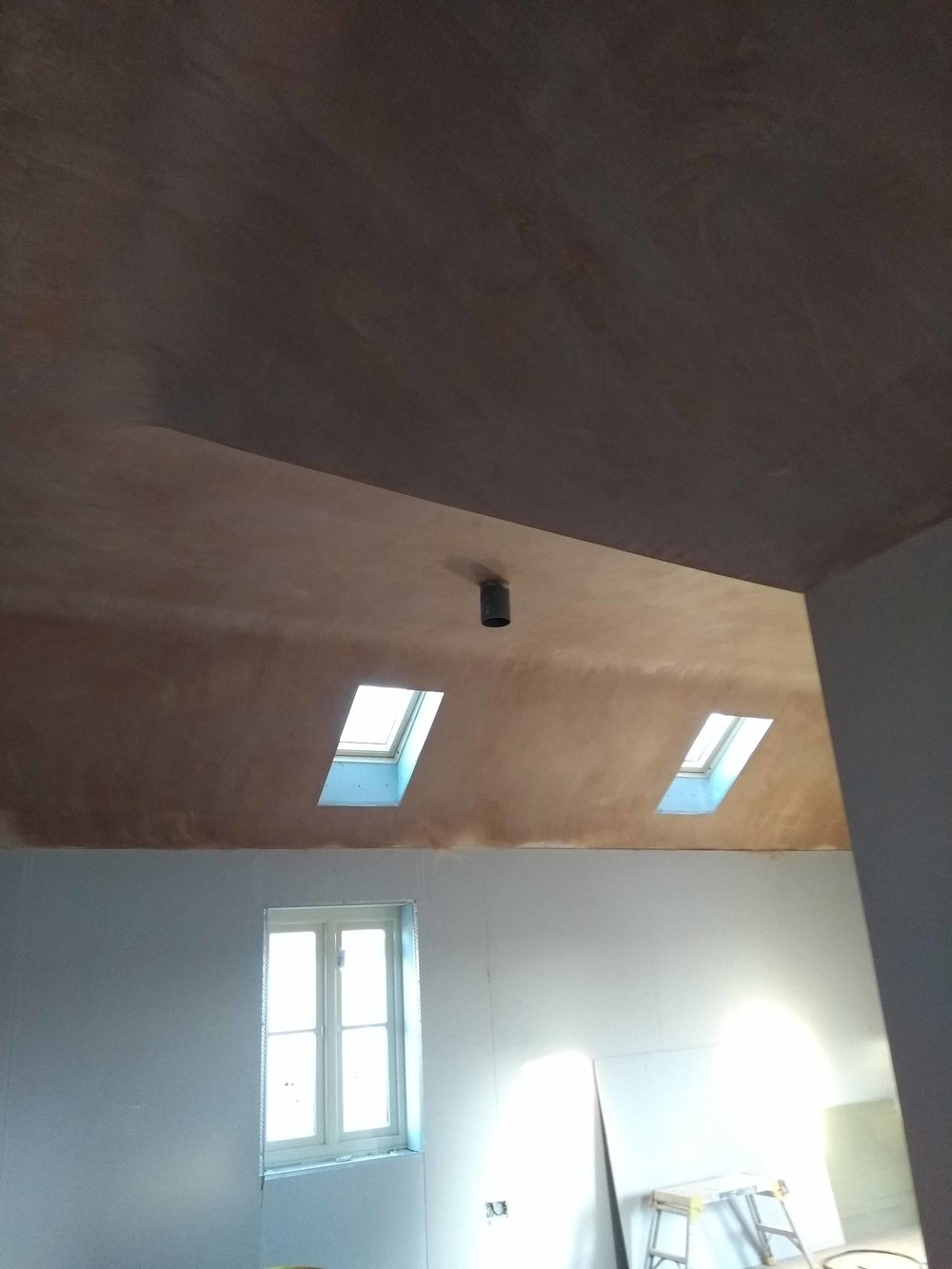 Vaulted ceiling plaster