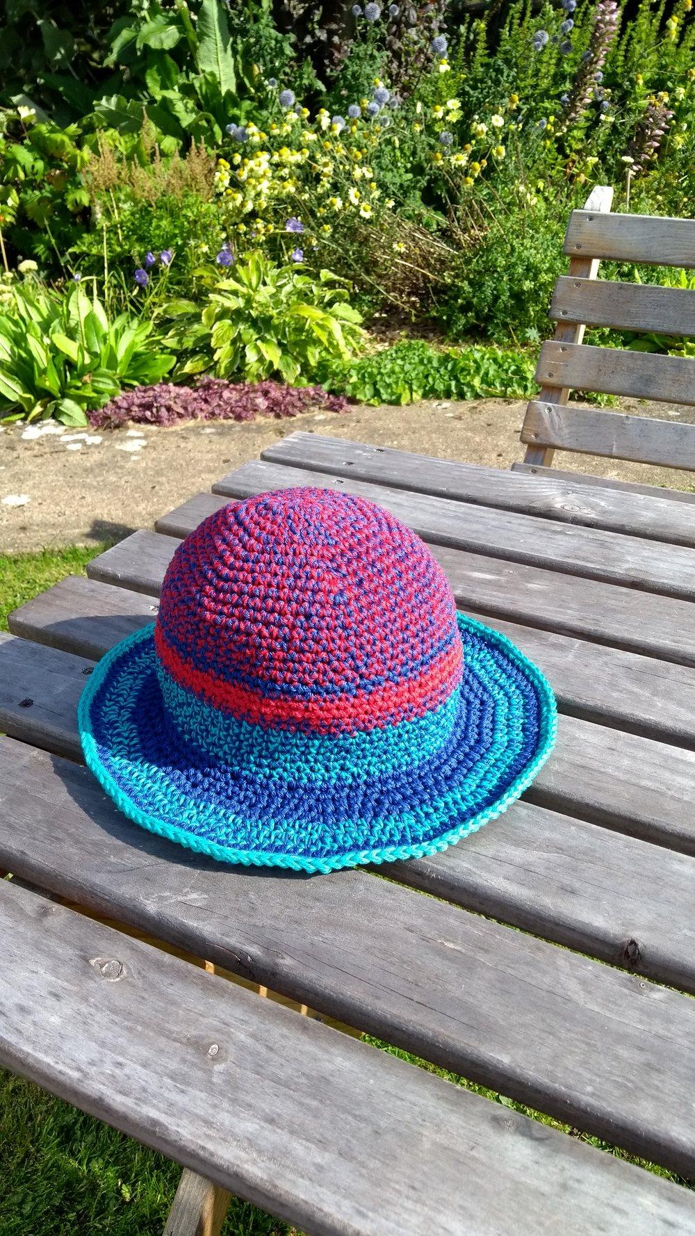 Crochet 'festival' hat august 2017