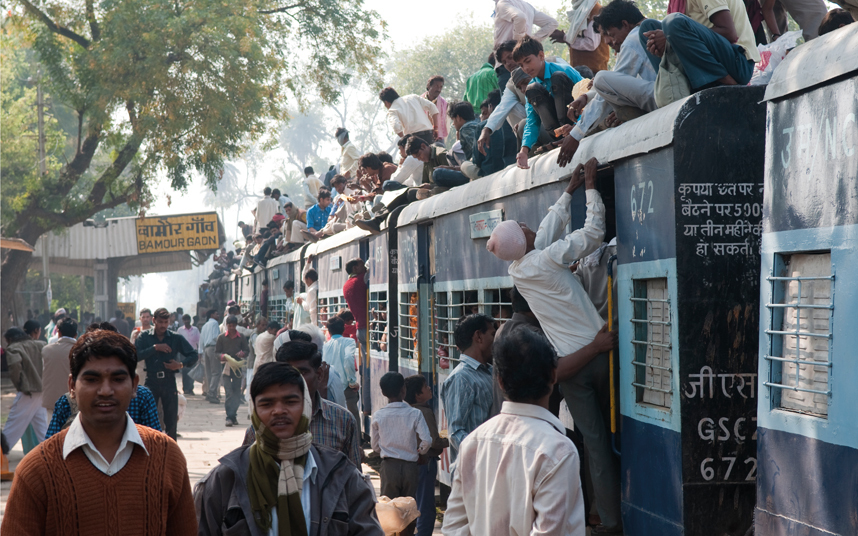 An image from India's Disappearing Railways