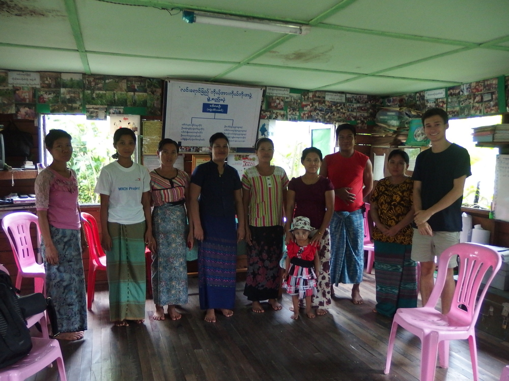 Daw Ma Ma U, fourth from the left, with her team at the Self Help Group