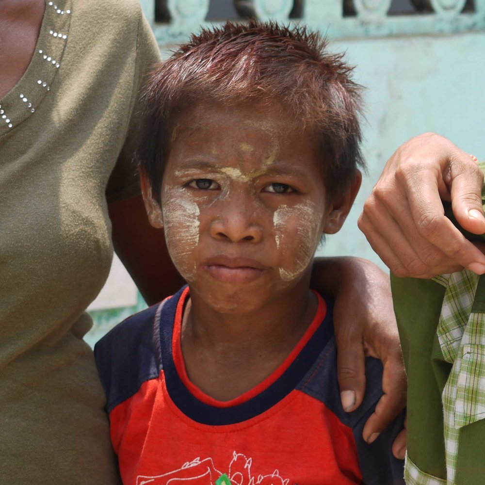 Aung Thuya, age 11, contracted HIV from his mother, whose father - a migrant worker in Malaysia - infected her. Up until now, he has never attended school and is severely malnourished.