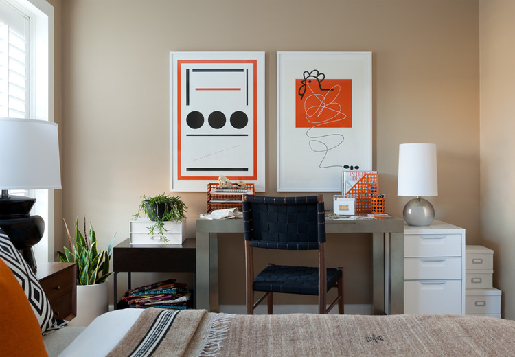 Plain Master Bedroom Office Combo Design A In Decorating