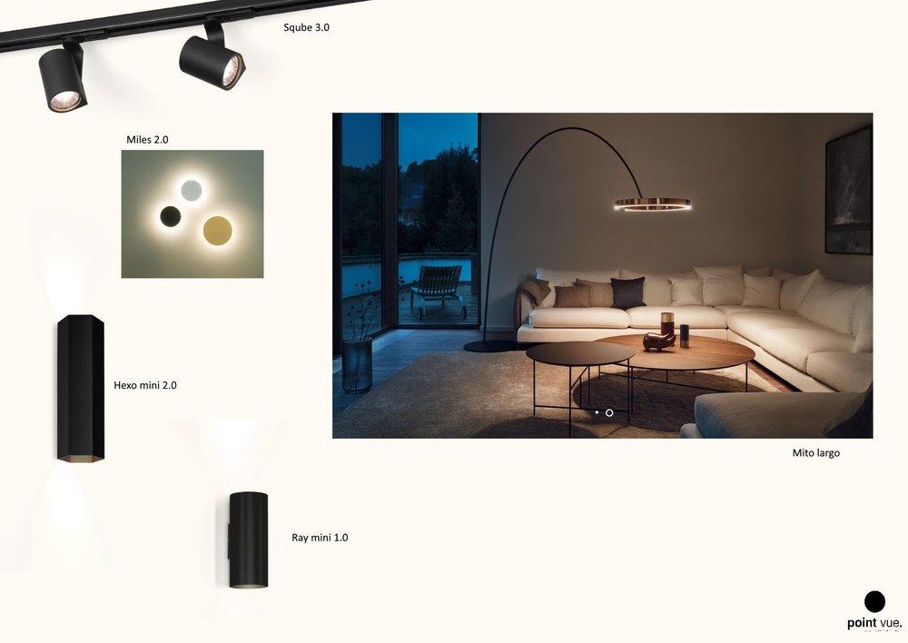 Verlichting woonkamer (Chenogne)