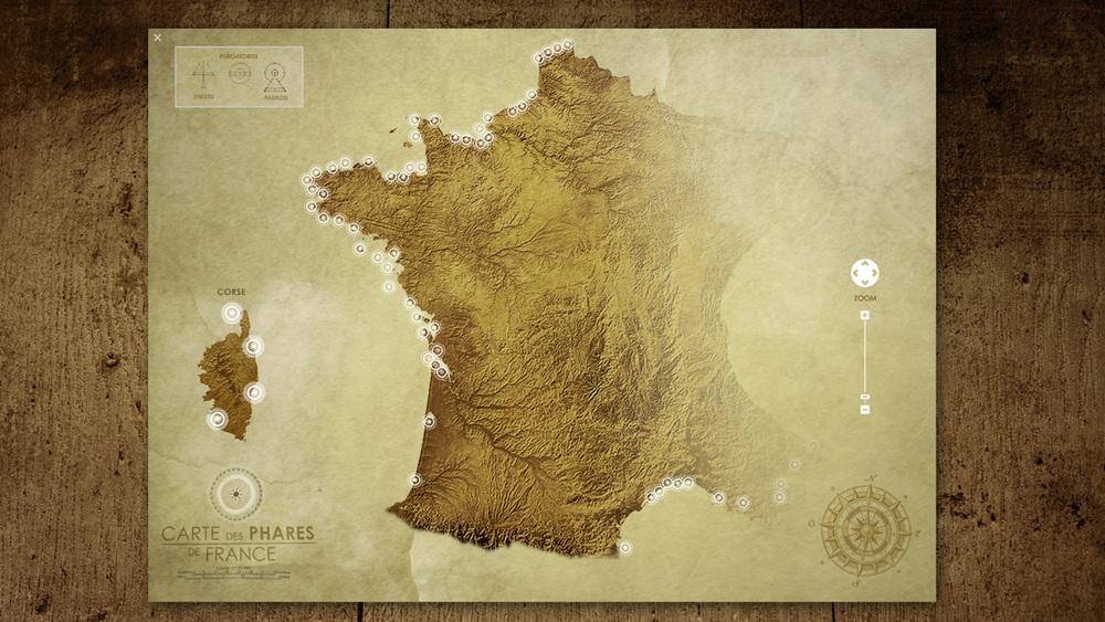 Création d'un univers visuel (cartes, légendes, interfaces à utiliser et lieux à visiter)