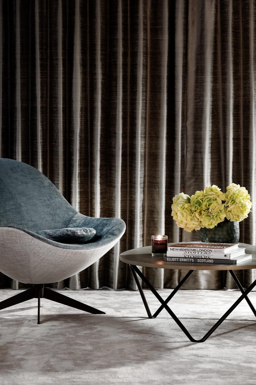 Rachel Usher Interior Design Master Bedroom Lounge Chair
