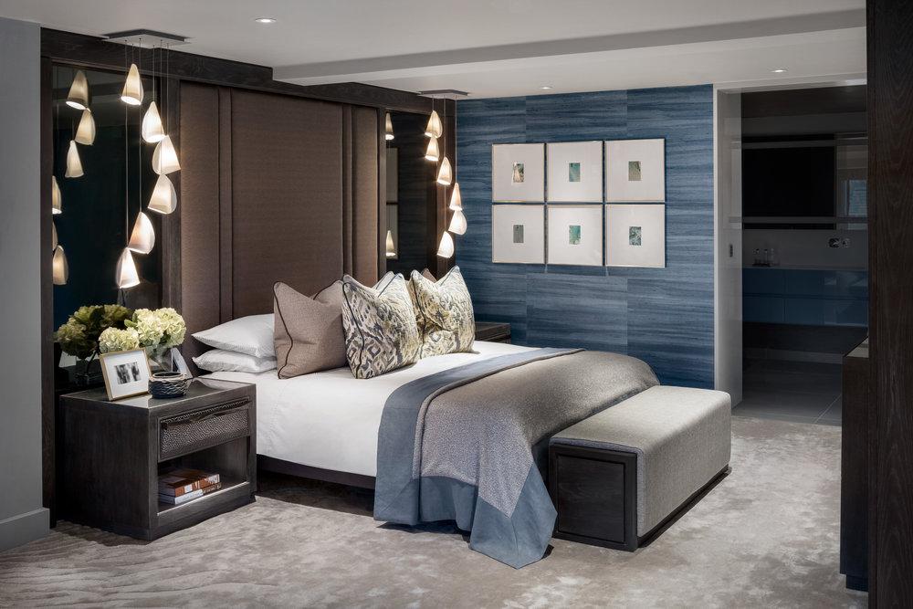 Rachel Usher Interior Design Bespoke Master Bedroom Suite