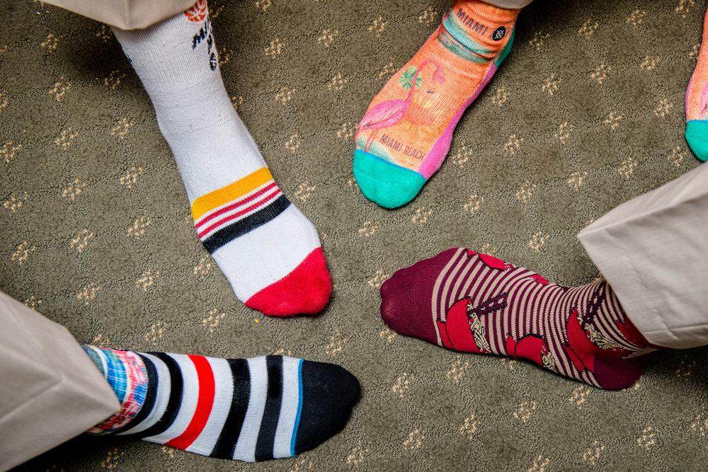Florida wedding socks.