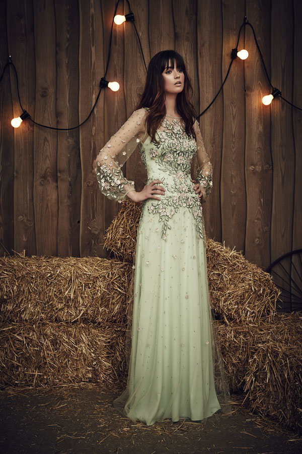 Jenny Packham Apache Gown in Celadon