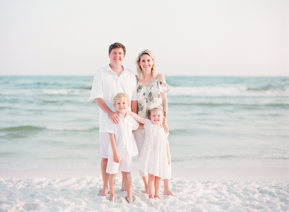 What to wear for family beach pictures? | Kaylie B. Poplin Photography | Watercolor, Florida fine art film photographer