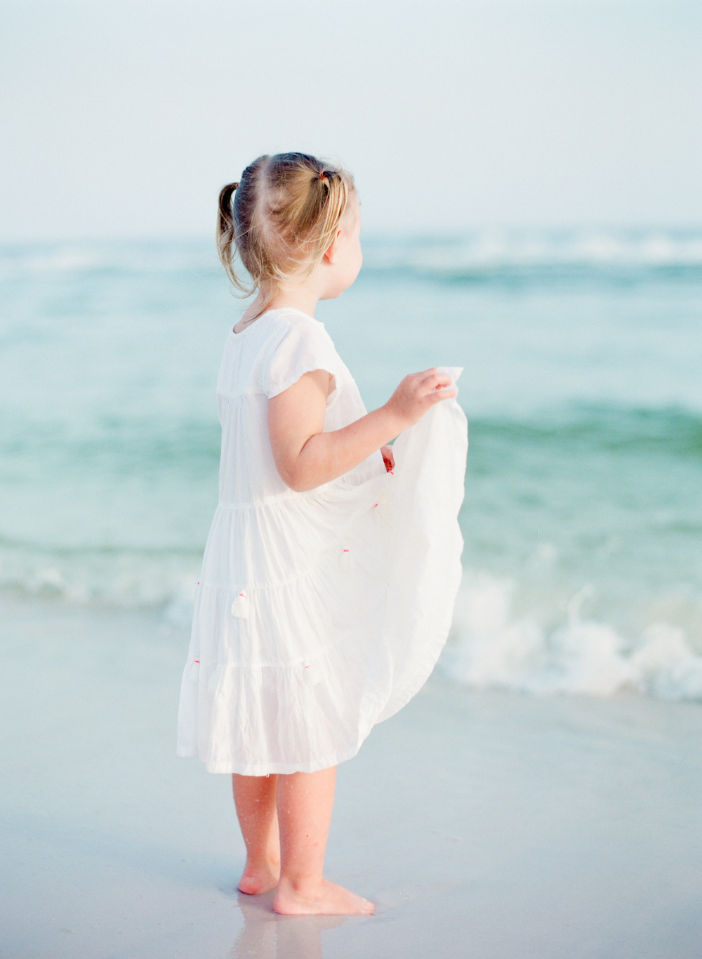 Little girl by the Sea | Kaylie B. Poplin Photography | Watercolor, Florida family and wedding photographer