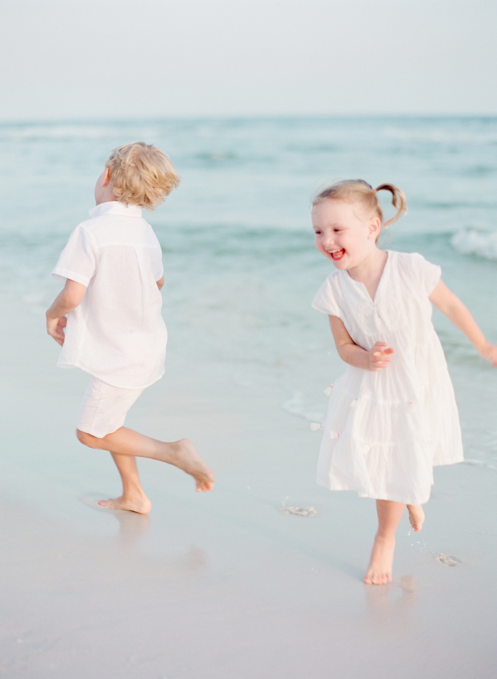 Kids playing at the beach | Kaylie B. Poplin Photography | Watercolor, Florida Fine Art Family & Wedding Photographer