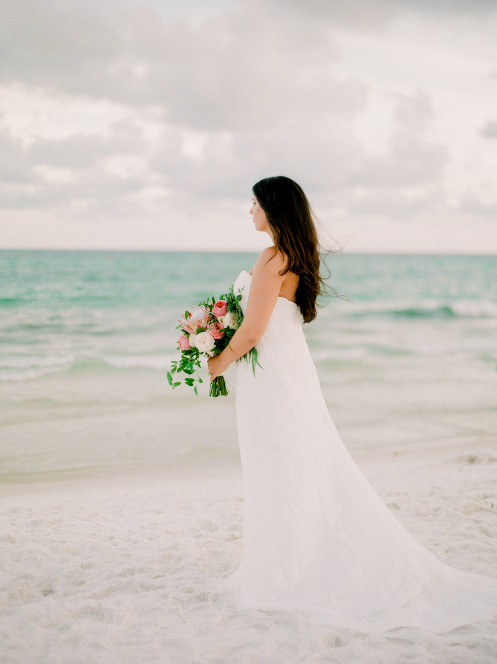 Florida wedding on the beach | Kaylie B. Poplin Photography | Watercolor, Florida fine art wedding photographer