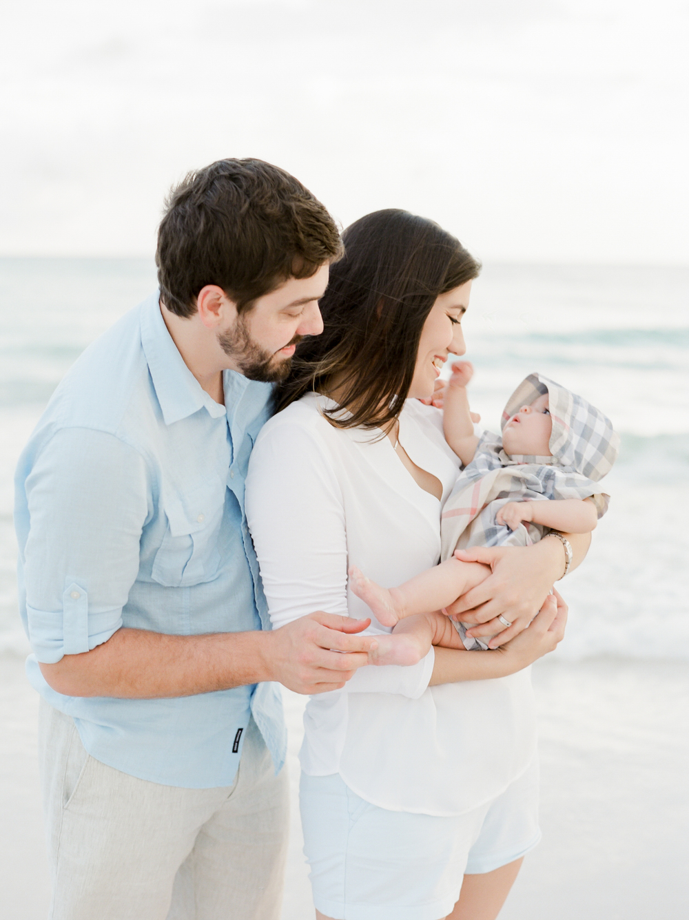 Babys first time at the beach | Kaylie B. Poplin Photography | Okaloosa Island Florida fine art photographer