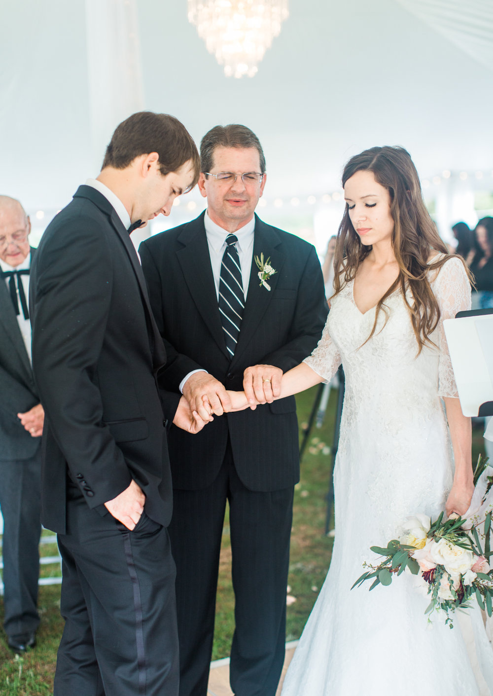 Couple Praying Together | Fine Art Crestview Florida Wedding | Jennifer Blair Photography