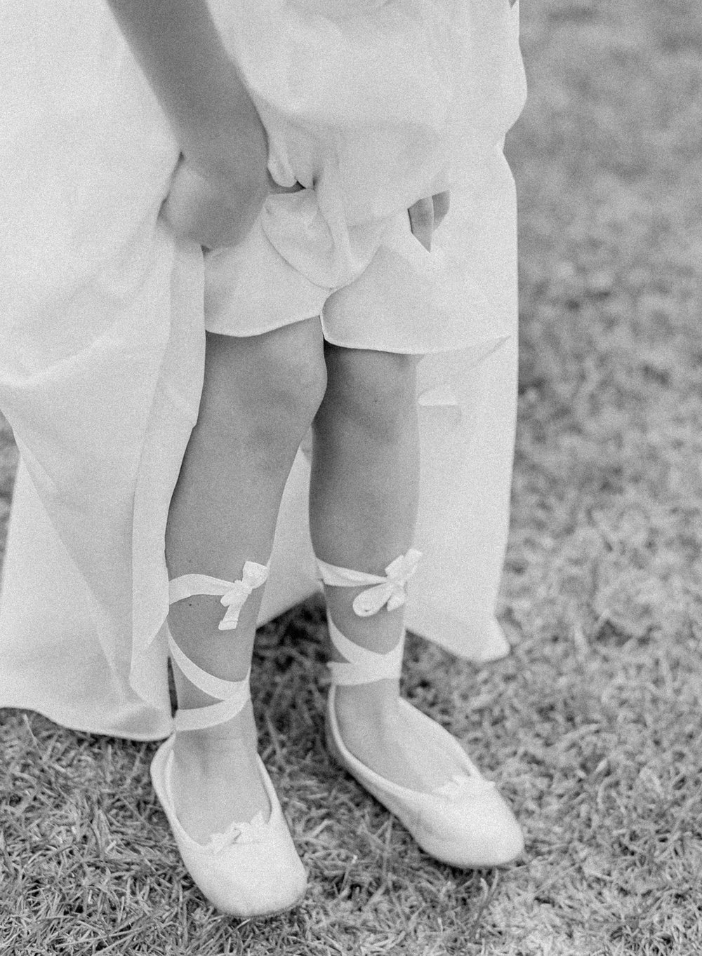 Flower Girls Shoes | Fine Art Crestview Florida Wedding | Jennifer Blair Photography