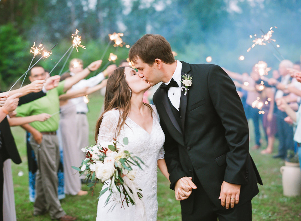 Sparkler Wedding Exit | Fine Art Crestview Florida Wedding | Jennifer Blair Photography