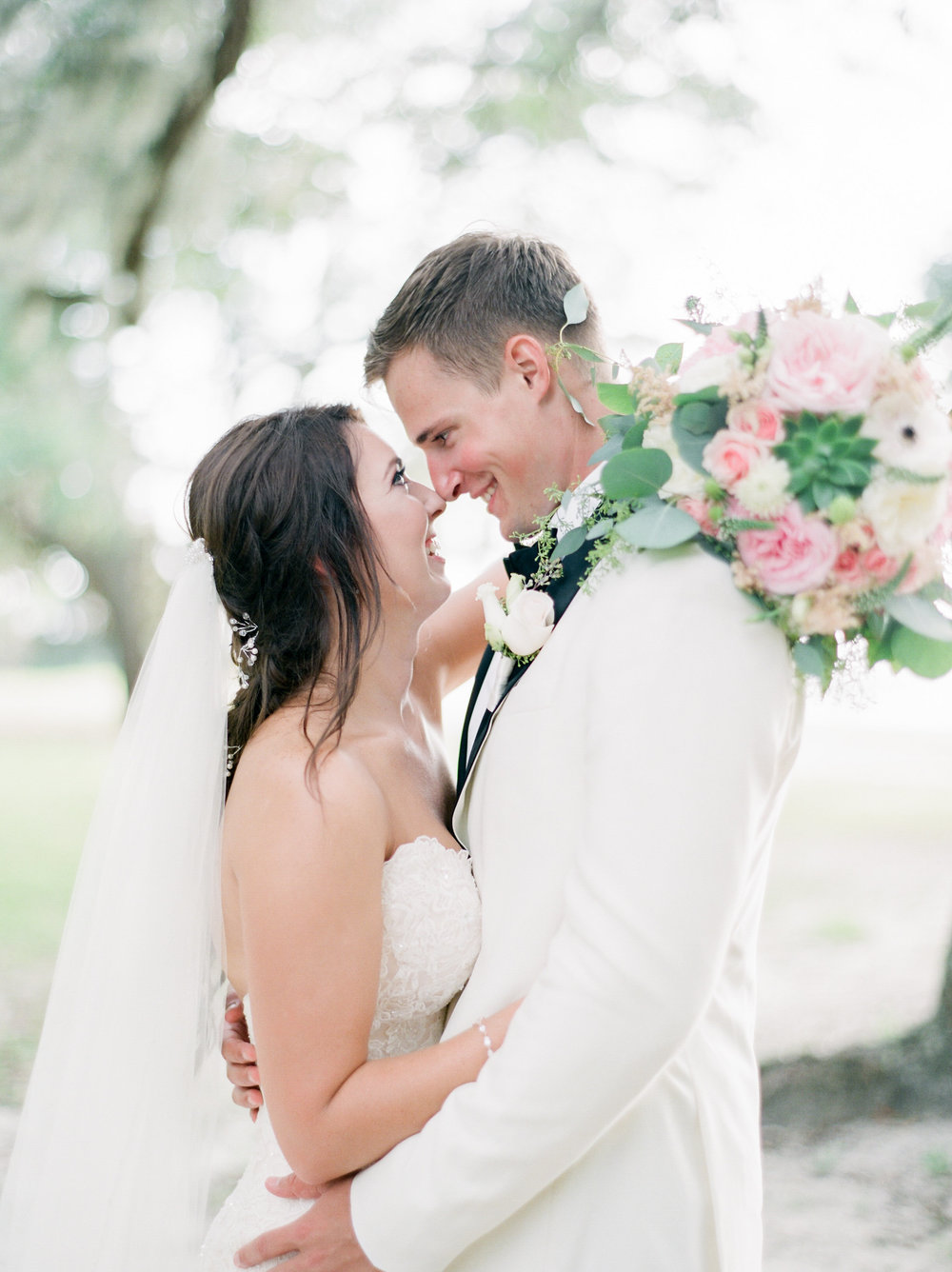 Destin Bay House Wedding - Shawn + Amanda   From the bayside getting ready venue to the all night dancing at the Destin Bay house, Shawn and Amanda's day lacked no detail! Their romantic elements, pops of blush pink and flower girl squad made their wedding day simply elegant!