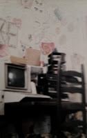 "That's an antique called a ""stereo"" next to an Apple. Yes, my parents had to deal with me covering my room in graffiti  ."