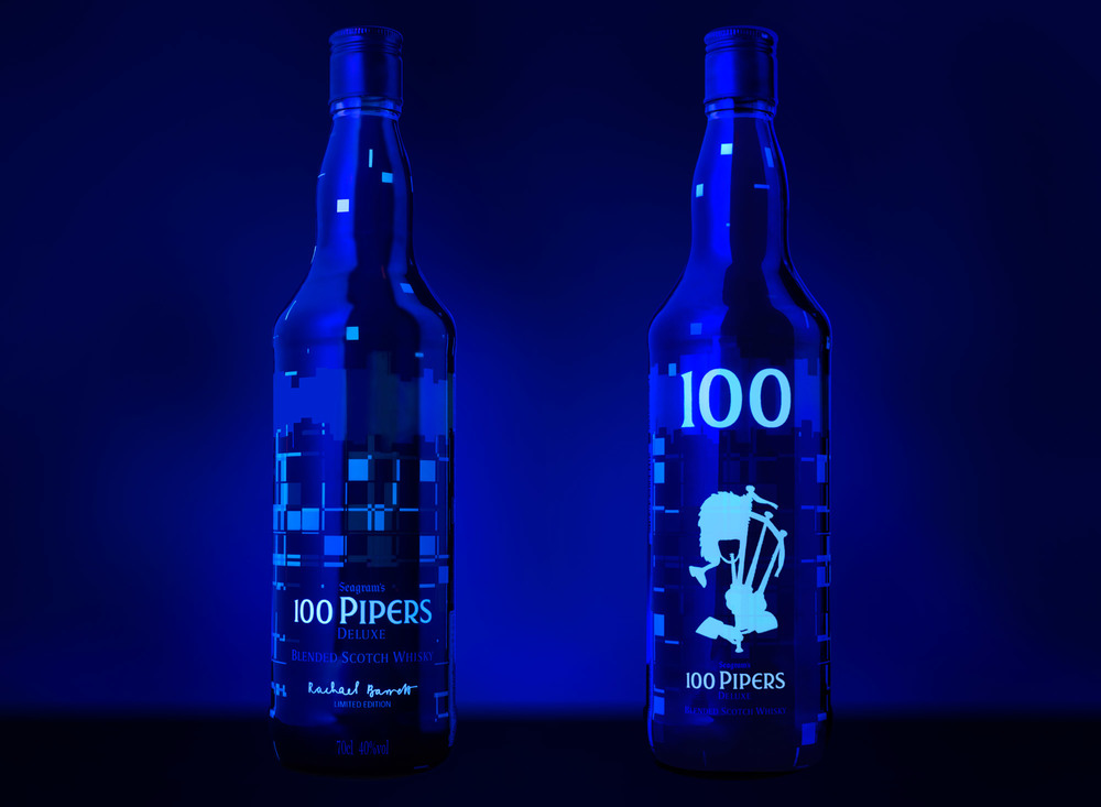 Bottle with UV   lighting