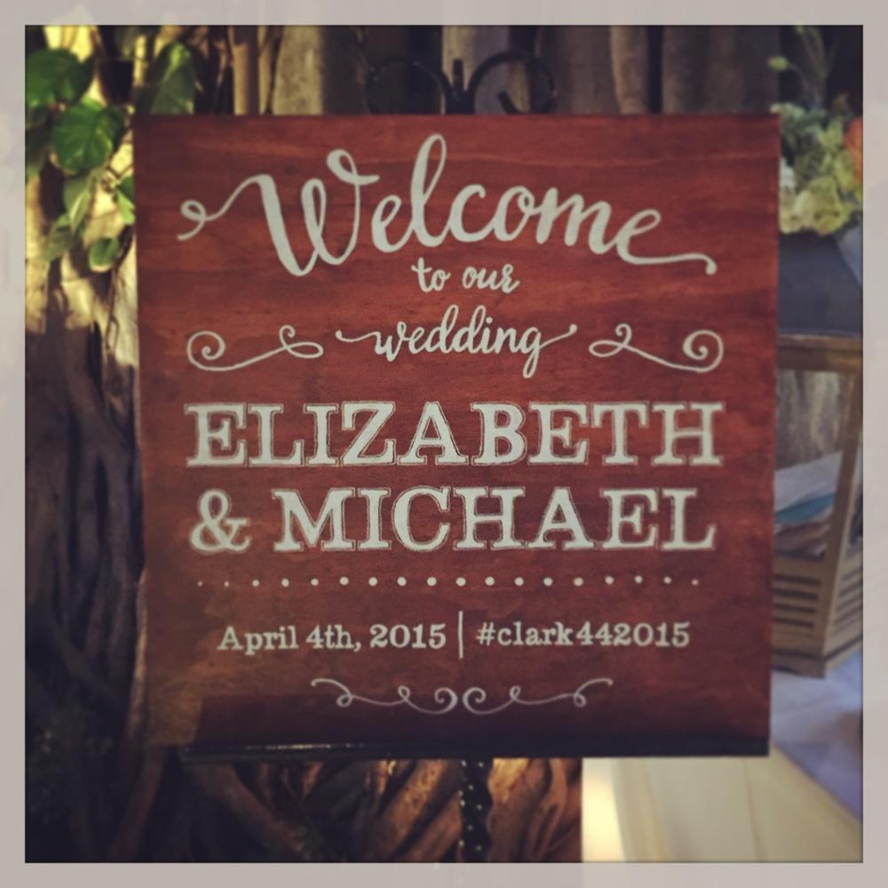 ElizabethandMichaelWeddingSign