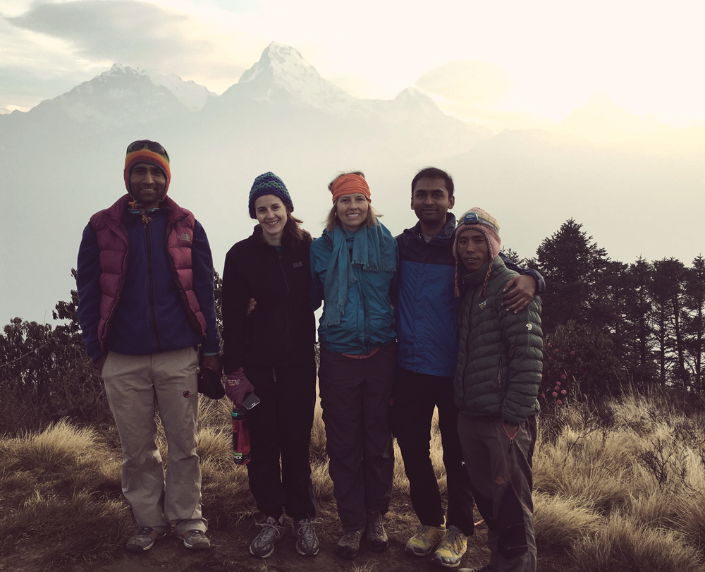 VICTORY! Babu, Julienne, me, Deepak and Kumar