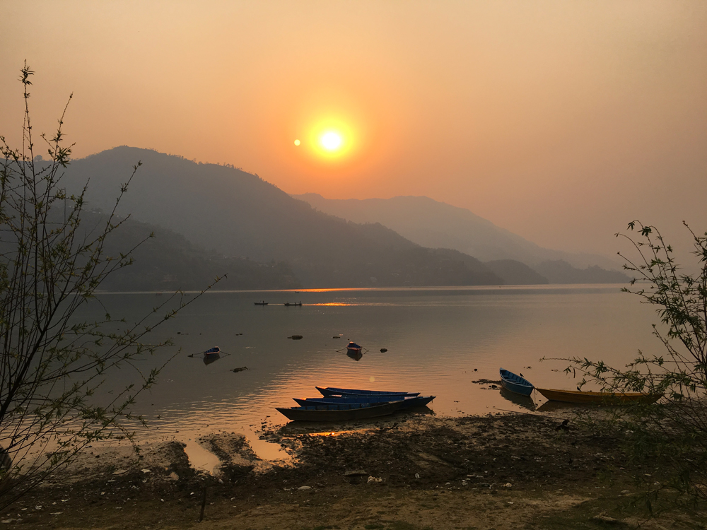 Lakeside Sunset in Pokhara