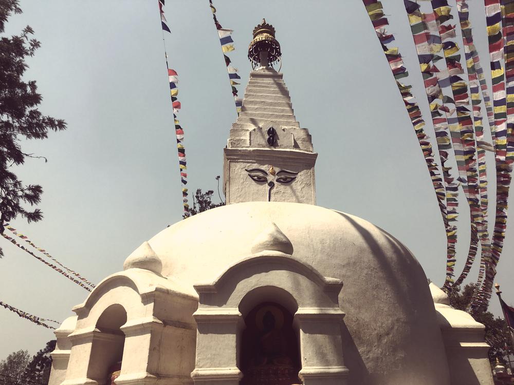 Swayumbunath Stupa (aka the Monkey Temple) near Kathmandu, Nepal